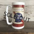 70s Vintage Thermo-Sew Beer Mug Pabst Blue Ribbon (T473)