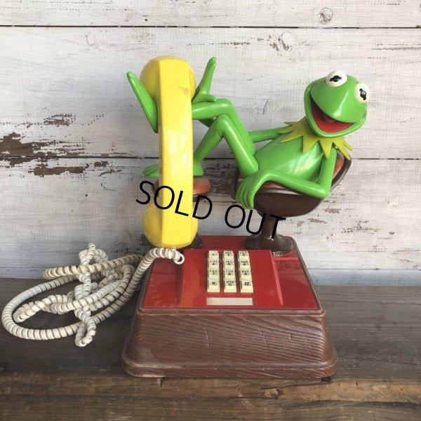 画像1: 80s Vintage Telephone Kermit (T537)