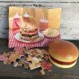 画像1: 70s Vintage Hamburger Plastic Container W/Puzzle (T529) (1)