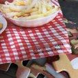 画像4: 70s Vintage Hamburger Plastic Container W/Puzzle (T529) (4)