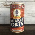 Vintage Quick Quaker Oats Cardboard Container (T542)