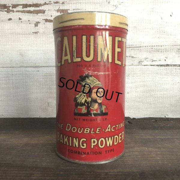 画像1: Vintage Calumet Baking Powder 1lb Can (T537)