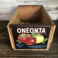 Vintage Wooden Fruits Crate Box ONEONTA (T551)