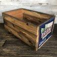 画像2: Vintage Wooden Fruits Crate Box BRIANT (T546) (2)
