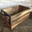 画像3: Vintage Wooden Fruits Crate Box HILL TOP (T545)