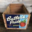 画像1: Vintage Wooden Fruits Crate Box Butler's Pride (T552) (1)