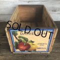 Vintage Wooden Fruits Crate Box DANIELSON (T556)