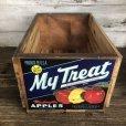 画像1: Vintage Wooden Fruits Crate Box My Treat (T553) (1)