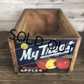 Vintage Wooden Fruits Crate Box My Treat (T553)