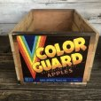 画像1: Vintage Wooden Fruits Crate Box COLOR GUARD (T547) (1)