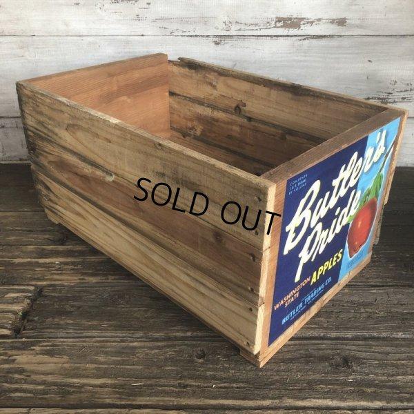 画像2: Vintage Wooden Fruits Crate Box Butler's Pride (T552)