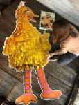 画像1: 70s Vintage Sesame Street Big Bird Giant Puzzle 180cm! (T556) (1)