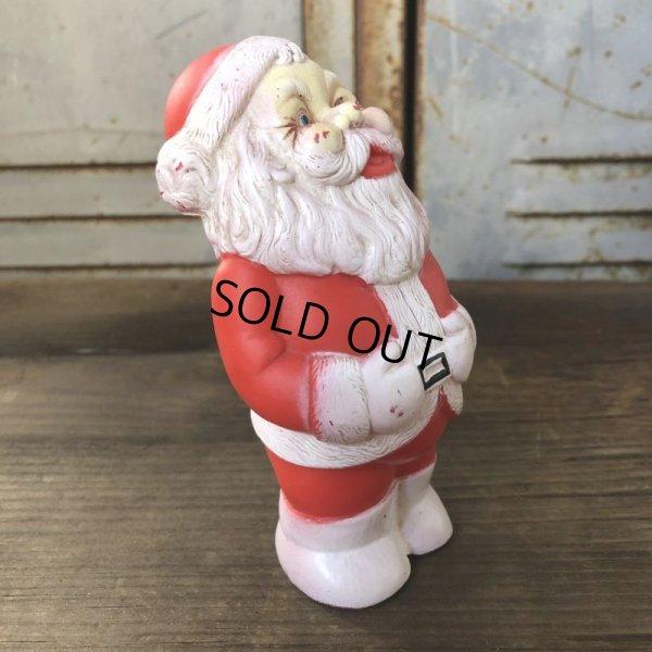 画像2: Vintage Santa Claus Rubber Doll 12.5cm (T543)