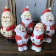 画像10: Vintage Santa Claus Rubber Doll 12.5cm (T543)