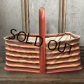 40s Vintage Grocery Store Shopping Canvas Basket  (T551)