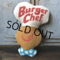 70s Vintage Pillow Cloth Doll Buger Chef (T561)