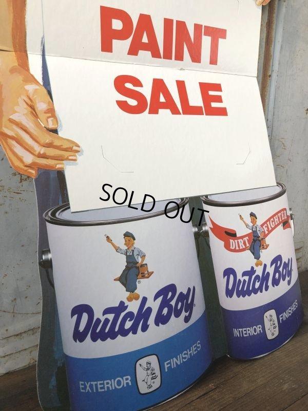 画像2: Vintage Dutch Boy Paint Store Display Life Size Cardboard Sign (T566)