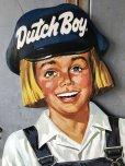 画像7: Vintage Dutch Boy Paint Store Display Life Size Cardboard Sign (T566)