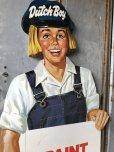 画像4: Vintage Dutch Boy Paint Store Display Life Size Cardboard Sign (T566)
