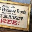 画像5: Vintage Mecca Cigarette Advertising Hand Printed, Framed,Store Sign (T571)