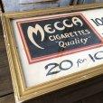 画像3: Vintage Mecca Cigarette Advertising Hand Printed, Framed,Store Sign (T571)