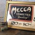画像2: Vintage Mecca Cigarette Advertising Hand Printed, Framed,Store Sign (T571) (2)