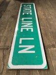 画像5: Vintage Road Sign STATE LINE LN (T578)