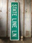 画像1: Vintage Road Sign STATE LINE LN (T578) (1)