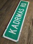 画像9: Vintage Road Sign KADRMAS RD (T573)