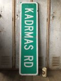 Vintage Road Sign KADRMAS RD (T573)