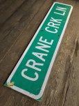 画像8: Vintage Road Sign CRANE CRK LN (T574)