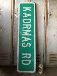 画像1: Vintage Road Sign KADRMAS RD (T572) (1)