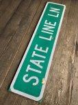画像8: Vintage Road Sign STATE LINE LN (T578)