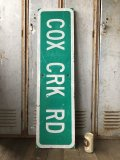 Vintage Road Sign COX CRK RD (T577)
