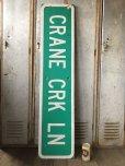 画像1: Vintage Road Sign CRANE CRK LN (T574) (1)