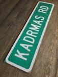 画像8: Vintage Road Sign KADRMAS RD (T572)