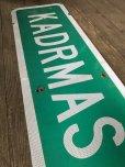 画像5: Vintage Road Sign KADRMAS RD (T573)