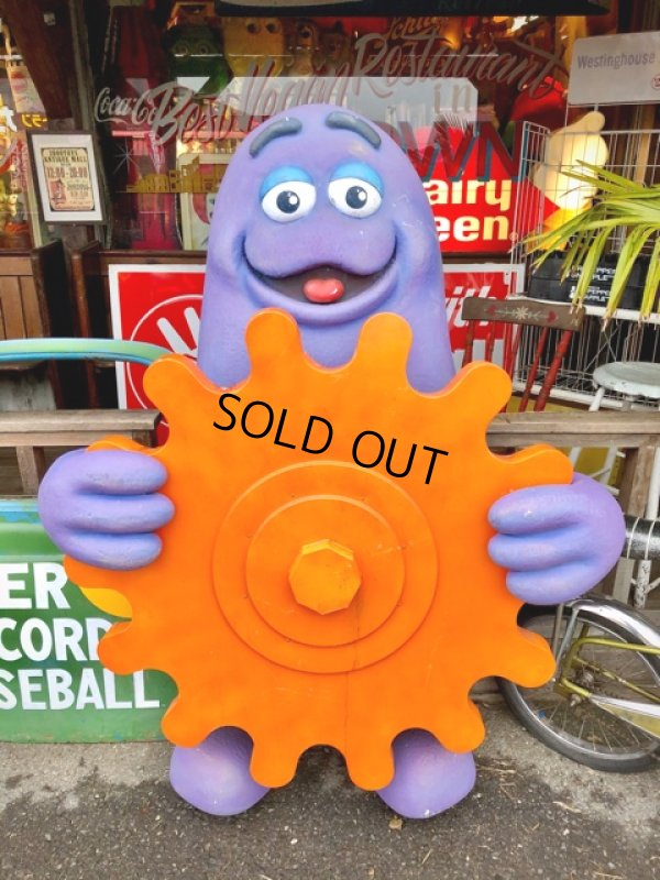 画像1: Vintage McDonald's Playland Store Display Sign Grimace Statue  (T566)