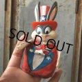 70s Vintage Bugs Bunny Finger Puppet Uncle Sam (T542)