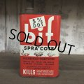 Vintage BIF Spra Cote Kills Quart Oil can (T563)