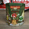 Vintage M&M's Tin Can  Happy Holidays Tree Shop (T566)