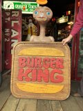 70s Vintage Burger King Old Logo Restauraunt Store Display Sign (T616)