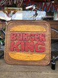 画像2: 70s Vintage Burger King Old Logo Restauraunt Store Display Sign (T616) (2)