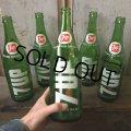 70s Vintage 7UP Soda Green Glass Bottle 28FL OZ  (T615)