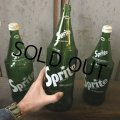 70s Vintage Sprite Soda Green Glass Bottle 32FL OZ  (T614)