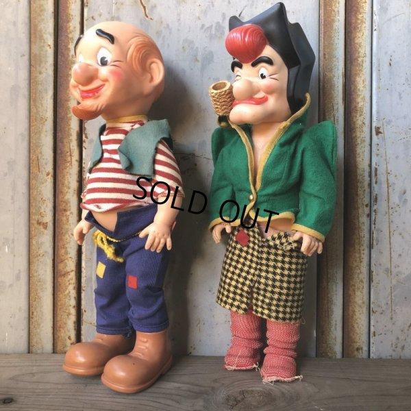 画像2: 50s Vintage Yokum Dogpatch Pappy & Mammy Doll Set 35cm (T607)