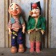 画像1: 50s Vintage Yokum Dogpatch Pappy & Mammy Doll Set 35cm (T607) (1)