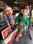 画像11: 50s Vintage Yokum Dogpatch Pappy & Mammy Doll Set 35cm (T607)