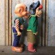 画像4: 50s Vintage Yokum Dogpatch Pappy & Mammy Doll Set 35cm (T607)