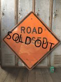Vintage Road Sign ROAD CLOSED (T646)
